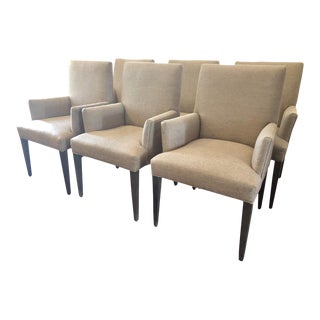 Crate & Barrel Modern Dining Chairs- Set of 6 For Sale