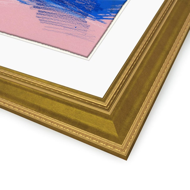 Figures, Set of 4 by David Orrin Smith in Gold Frame, XS Art Print For Sale - Image 10 of 11