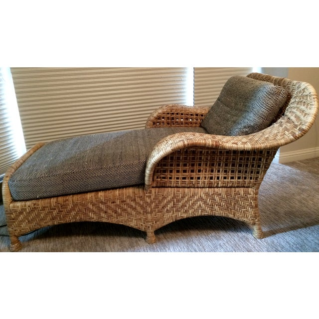 Wicker Chaise Lounge - Image 2 of 5
