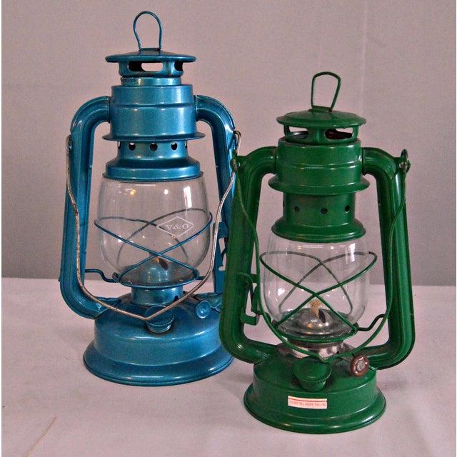 Winged Wheel Railroad Hanging Lanterns - A Pair - Image 3 of 7