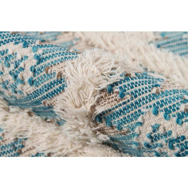 Harper Aqua Hand Woven Area Rug 3' X 5' For Sale - Image 4 of 9