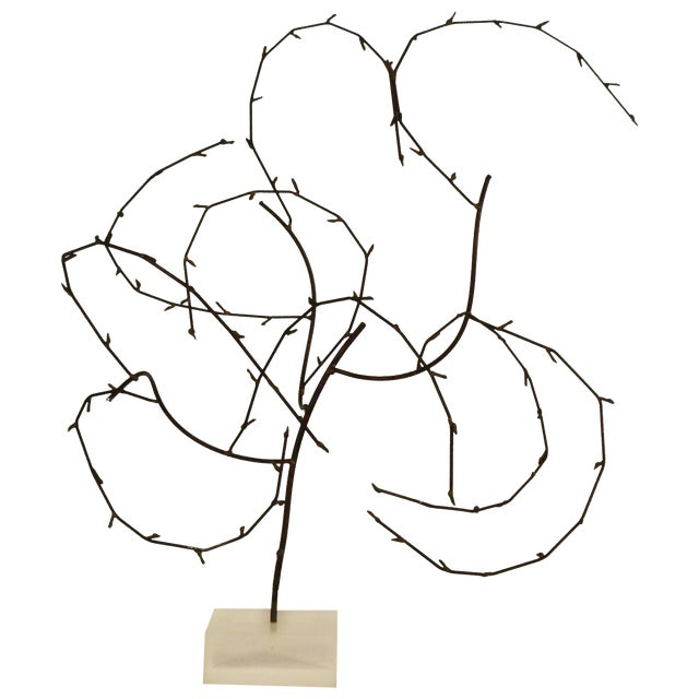 1970s Free-Form Abstract Sculpture on Lucite Base For Sale