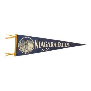 Vintage Martha Walsh Niagara Falls N.Y. Felt Pennant Flag
