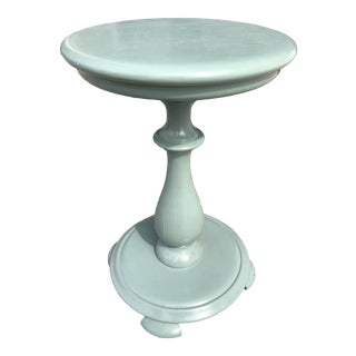 1950s Shabby Chic Painted Wooden Side Table For Sale