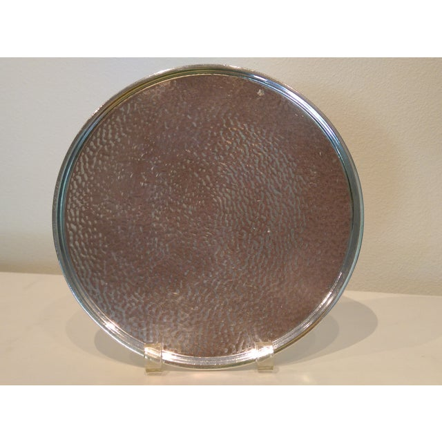 Hammered Silverplate Shallow Dish - Image 3 of 6