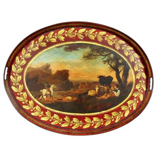 Regency Painted Tole Tray For Sale