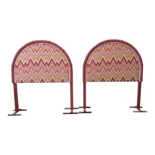 Lacquered Faux-Bamboo Headboards - A Pair