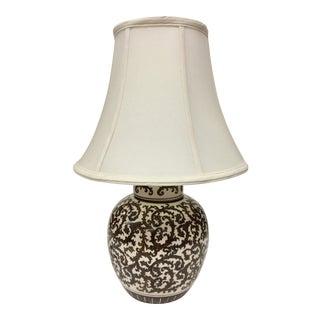 Vintage Tyndale Porcelain Ginger Jar Shaped Table Lamp For Sale