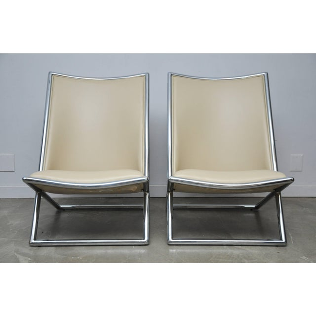 1960s Ward Bennett Scissor Chairs For Sale - Image 5 of 7