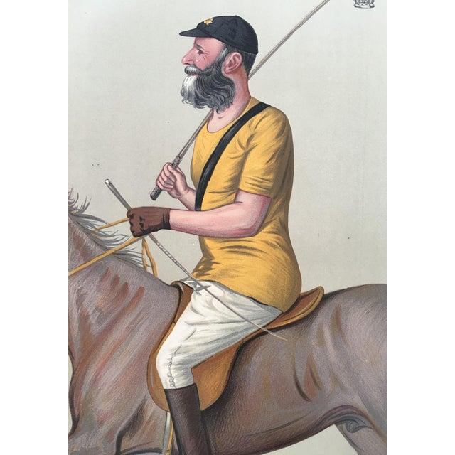 1891 Vanity Fair Polo Print - Earl of Harrington - Image 1 of 2