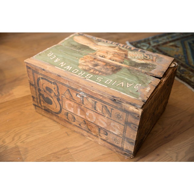 Antique Soap Box Crate With Label For Sale In New York - Image 6 of 11