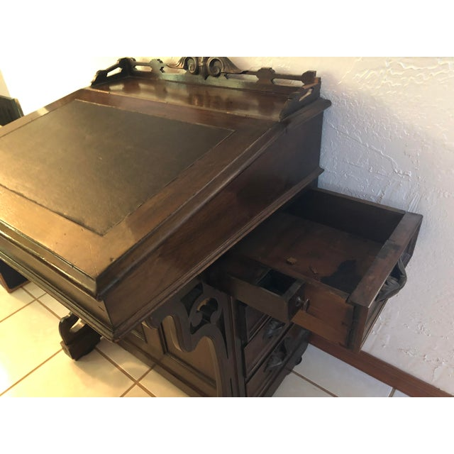 Traditional Antique Victorian Walnut Davenport Desk For Sale - Image 3 of 10