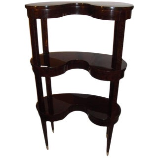 Jonathan Charles Kidney Shaped 3-Tier Etagere For Sale