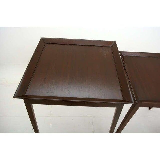 John Widdicomb Widdicomb Set of Nesting Mahogany Tables For Sale - Image 4 of 6