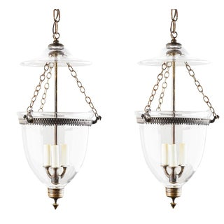 1890s English Bell Jar Lanterns - a Pair