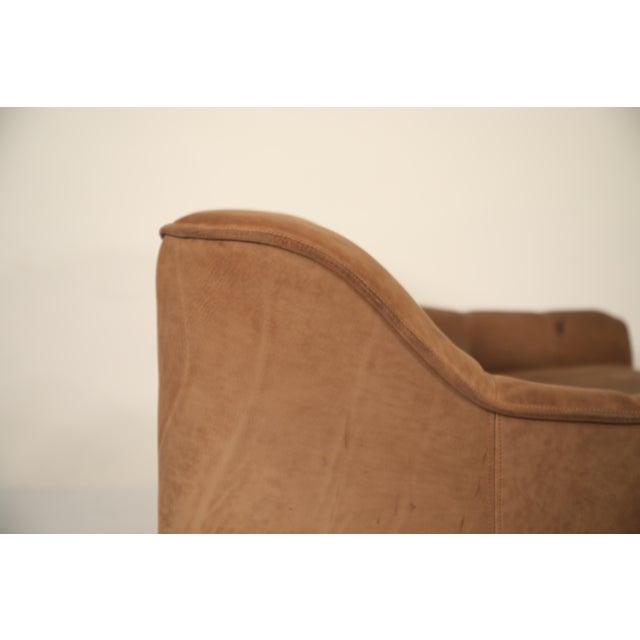 De Sede De Sede Aged Buffalo Leather Ds-44 Adjustable Loveseat Sofa, 1970s For Sale - Image 4 of 13