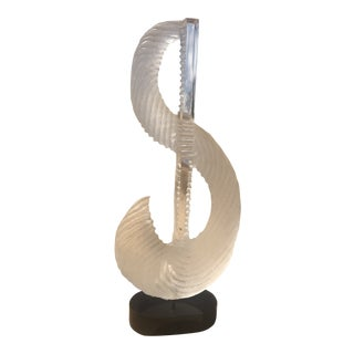 1980s Abstract Lucite Sculpture For Sale