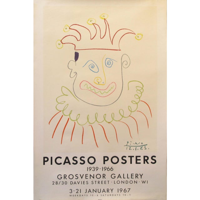 Pablo Picasso 1967 Picasso Exhibition Poster, London For Sale - Image 4 of 4