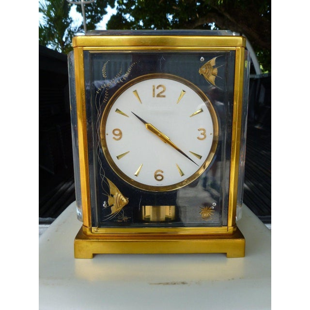 Lucite Mid-Century Modern Marina Jaeger Le Coultre Clock For Sale - Image 7 of 7