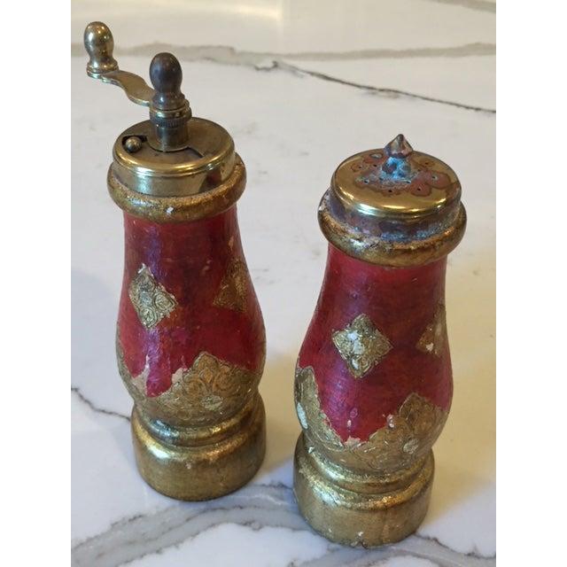 Metal Vintage Acciaio Garant Florentine Salt & Pepper Shakers For Sale - Image 7 of 7
