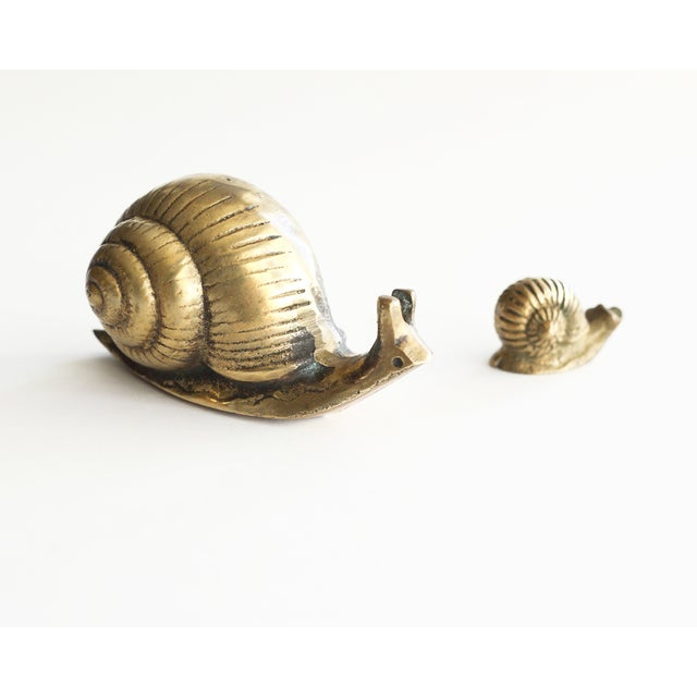 Solid Brass Snails - Pair - Image 5 of 5