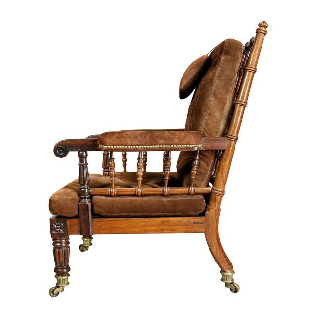 George IV Rosewood Bergere Chair by Gillows For Sale - Image 9 of 12