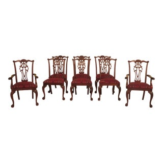 Ethan Allen Claw Foot Mahogany Dining Room Chairs- Set of 8 For Sale