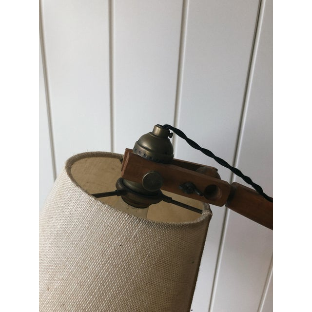 Country Vintage Wooden Desk Lamp For Sale - Image 3 of 5