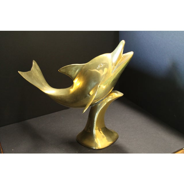 Large Brass Dolphin - Image 2 of 6