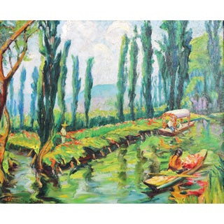 1940s Impressionist Waunita Smith Painting For Sale