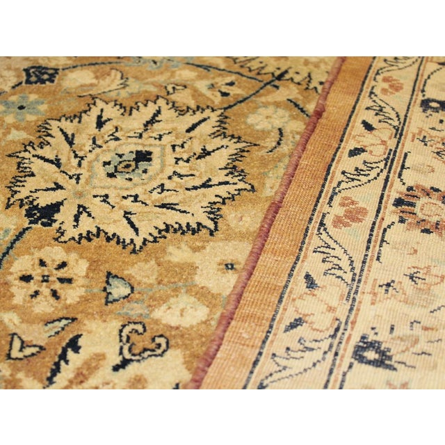 2010s Pak Persian Ping Lt. Brown/Lt. Blue Hand-Knotted Rug -8'10 X 12'2 For Sale - Image 5 of 8
