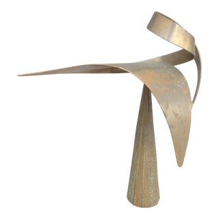 Monumental Mid-Century Modern Bill Keating Bronze Kinetic Sculpture For Sale