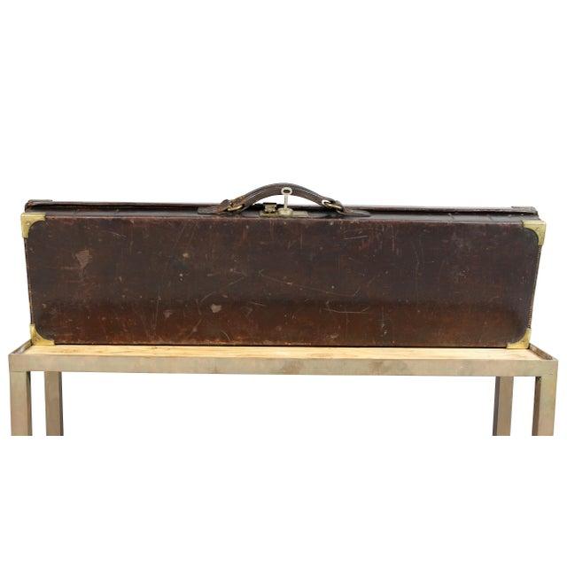 Regency Leather Gun Case on Base For Sale - Image 9 of 12