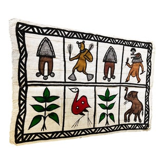 Colorful Senufo Korhogo Mud Cloth Ivory Coast For Sale