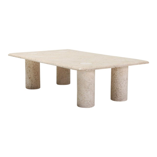 Angelo Mangiarotti Travertine Coffee Table for Up & Up - 1970s For Sale