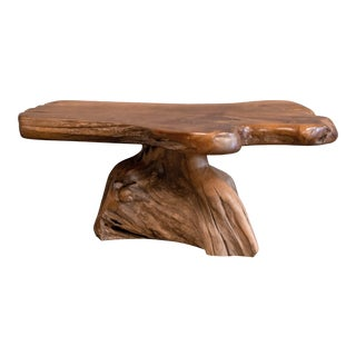 Reclaimed Teak Root Coffee Table For Sale