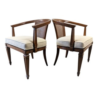 French Provincial Cane Barrel Back Chairs - a Pair For Sale