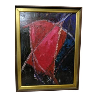 """Henry Botkin """"Heartbeat"""" Abstract Oil Painting For Sale"""