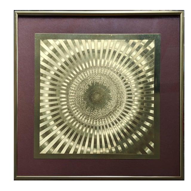 Purple 1960s Vintage Op Art Print For Sale - Image 8 of 10