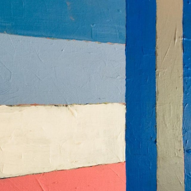 """Contemporary """"Flag"""" painting. Part of a series painted in 2020. Acrylic on canvas. 24""""'x36""""."""