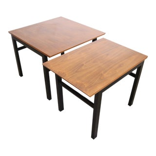 Cantilevered Wormley for Dunbar End Tables - A Pair For Sale