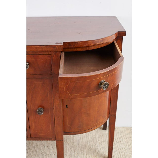 American Federal Mahogany Bow Front Sideboard For Sale In San Francisco - Image 6 of 13