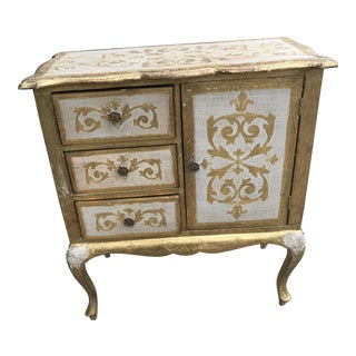 Italian Florentine Gold Cabinet For Sale