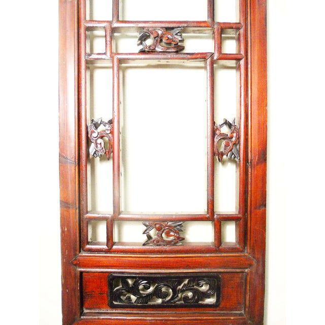 1800-1849 Antique Chinese Cunninghamia Wood Screen Panels - a Pair For Sale In Dallas - Image 6 of 11