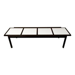 Mid-Century Vitrolite Paneled Coffee Table For Sale