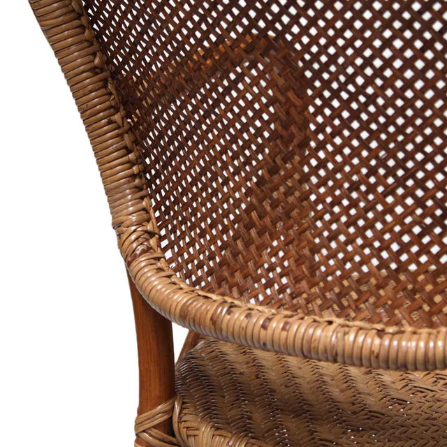 Rattan Bistro Dining Chairs - Set of 4 - Image 7 of 7