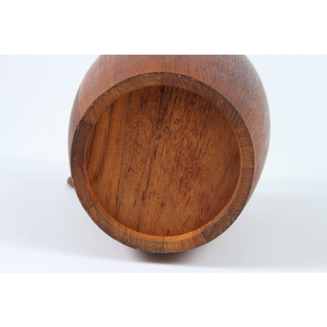 Vintage Teak Ice Bucket Designed by Jens Quistgaard For Sale In Los Angeles - Image 6 of 7