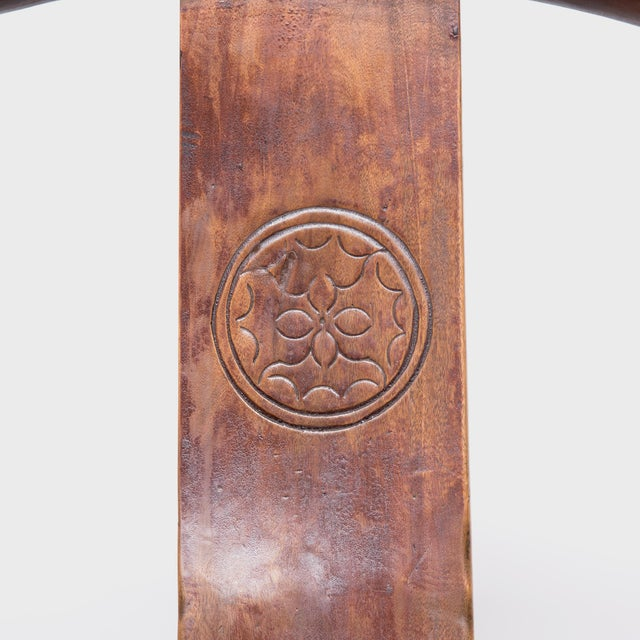 Mid 19th Century 19th Century Provincial Chinese Elm Roundback Chair For Sale - Image 5 of 6