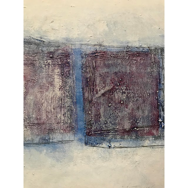 """1980s Abstract Bay Area Artist Painting """"3 Quadrilaterals"""" For Sale - Image 4 of 5"""