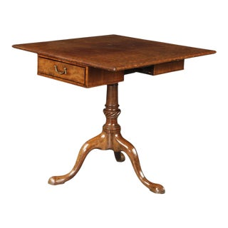 18th Century George II Plum Pudding Mahogany Tilt Top Table For Sale